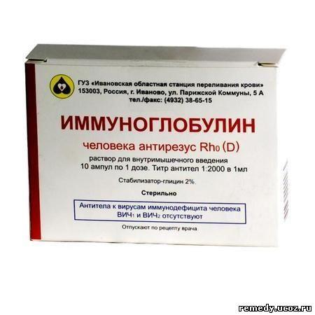 Антирезус иммуноглобулин